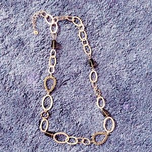 Liz Claiborne vintage layering gold chain necklace